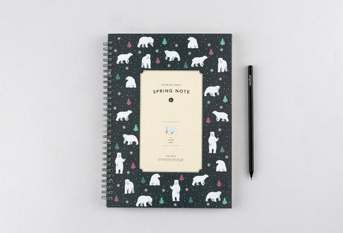 ARDIUM Spiral Notebook (large) - Polar Bear