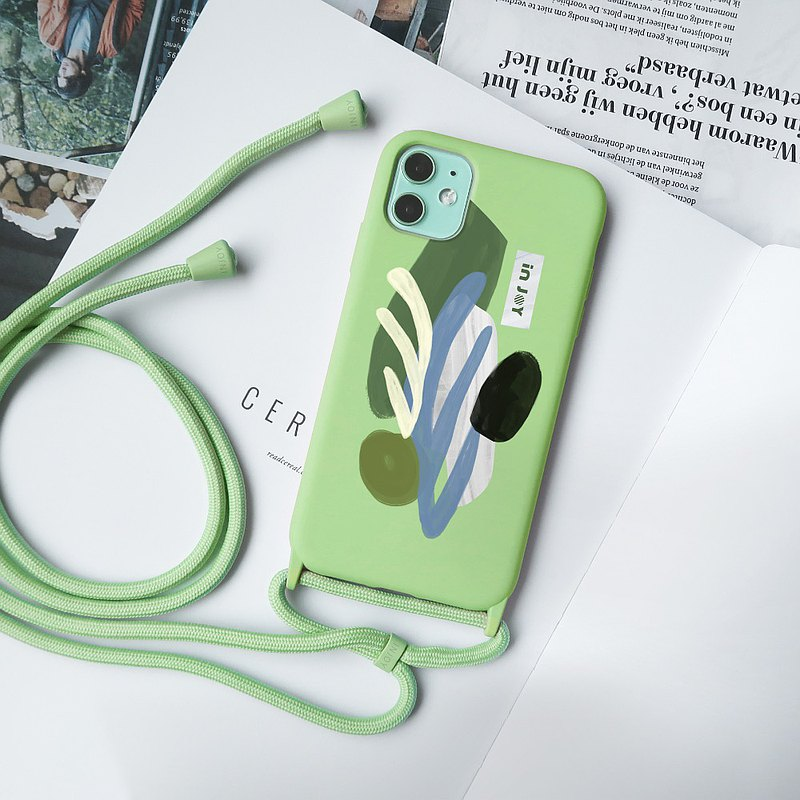 Leisurely Barcelona CARAMEL TPU iPhone CASE + ROPE  For 11 max,SE2,12,12 mini