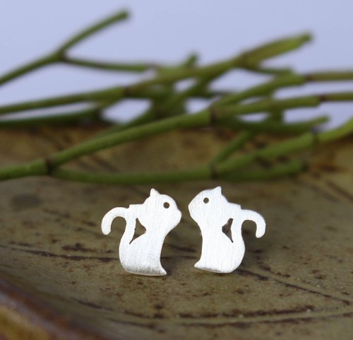 Meaw...Cat - Silver Earrings / Sterling Silver / Animal Earrings / Earrings