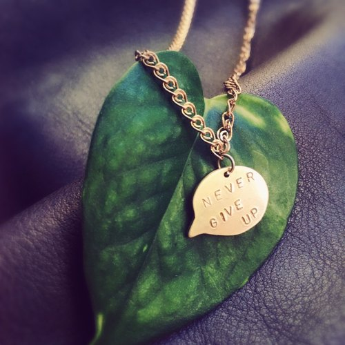 Simple Texture Dialog Box Handmade Brass Necklace / Customized / Confessions / Friends Gifts / Christmas Gifts