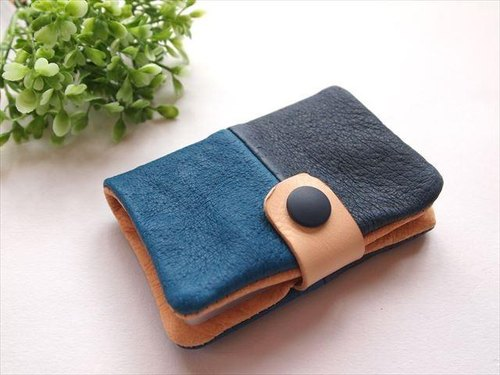 Pig leather soft card case [hand-dyed leather] 161009 [multi]