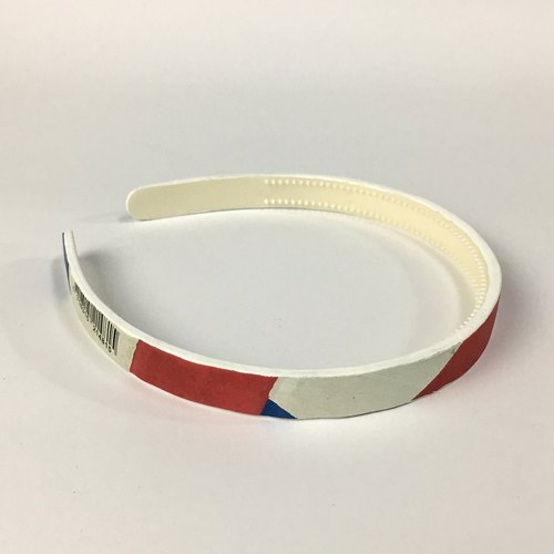 Volleyball x hair hoop / fine version / conti red and blue white section number 003