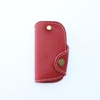 Leather Key Bag Short Version - Red / Letterable