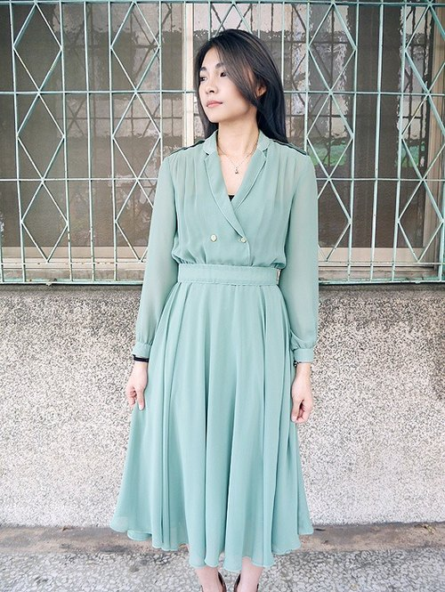 ◈ invincible children music vintage Japanese input line ◈ whims classic vintage antique dress elegant actress Silk Complex