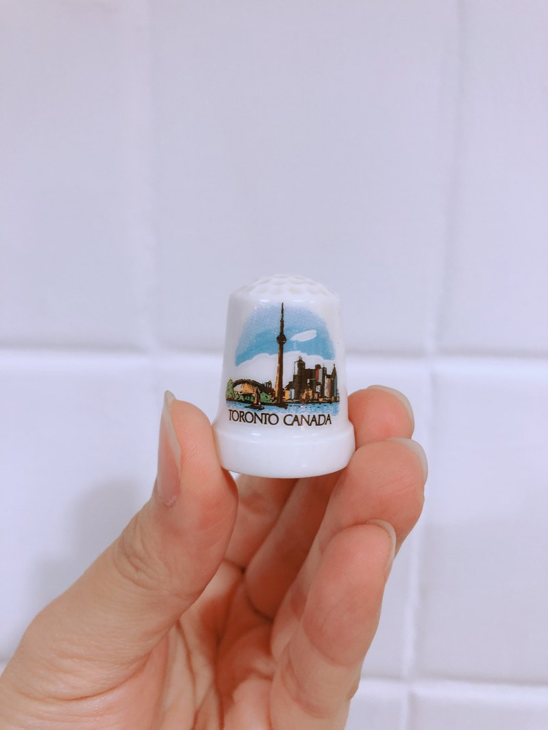 British Antique Porcelain Thimble Tower Series B Toronto Canada