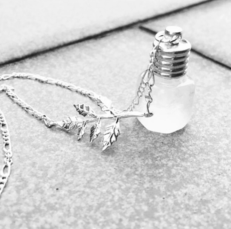 Fill in the blank (middle) No14 square weather bottle necklace design customization