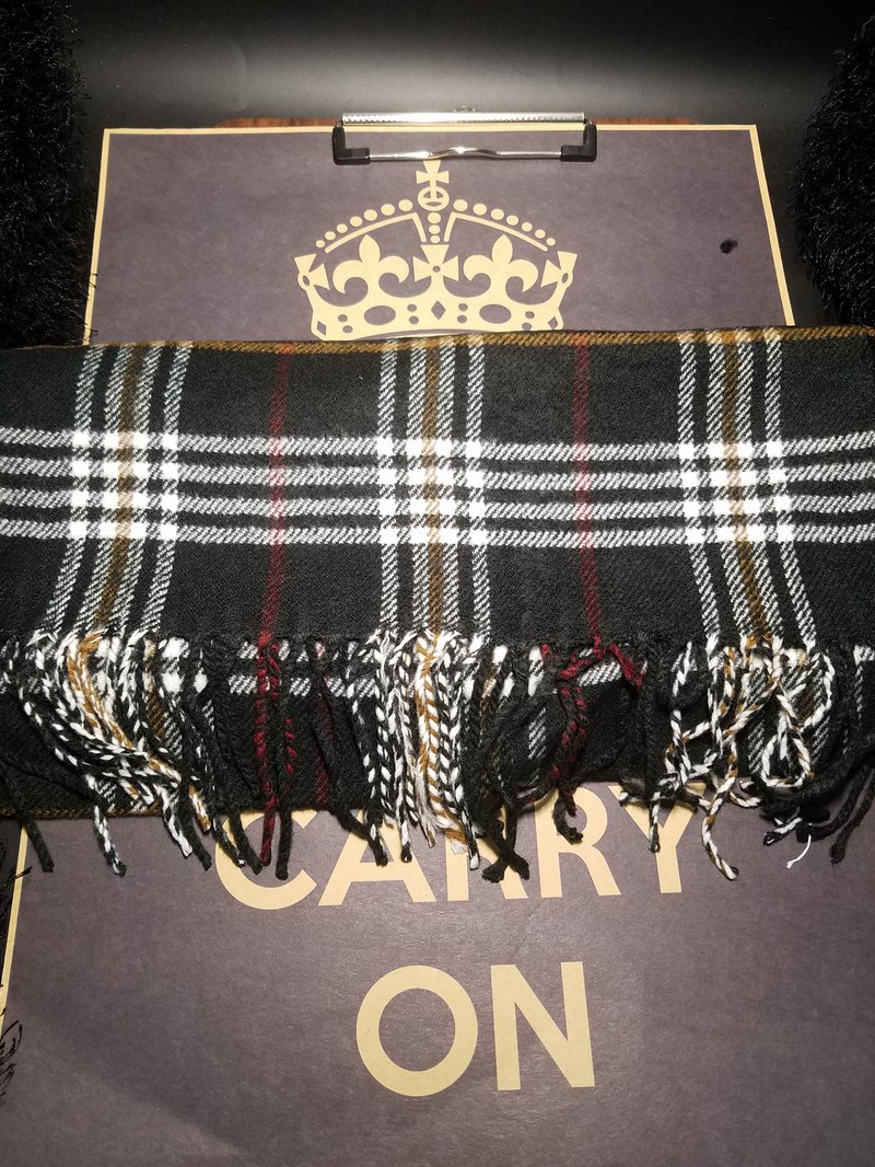 Retro Cashmere Chequered Scarf, Neck, Atmospheric Style Christmas Exchange Gift