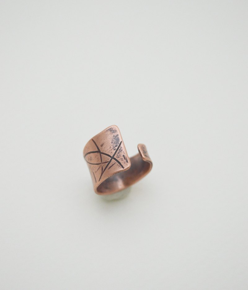 The Trace Of Life-Series 3‧Copper Open Size Ring-II