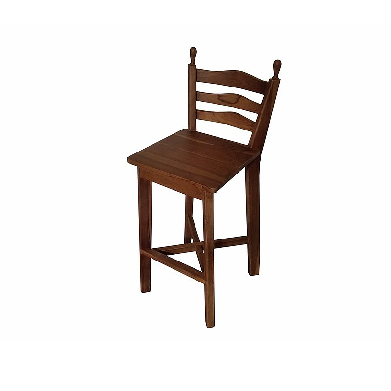 Jidi teak furniture│teak simple dining chair chair leisure chair backrest meal ETCH007B