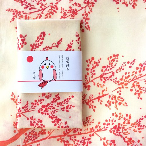 "tenugui towel ""Small Birds"""