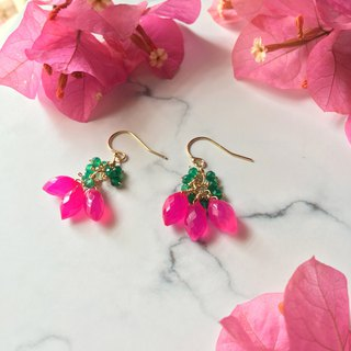Handmade earrings peach candy