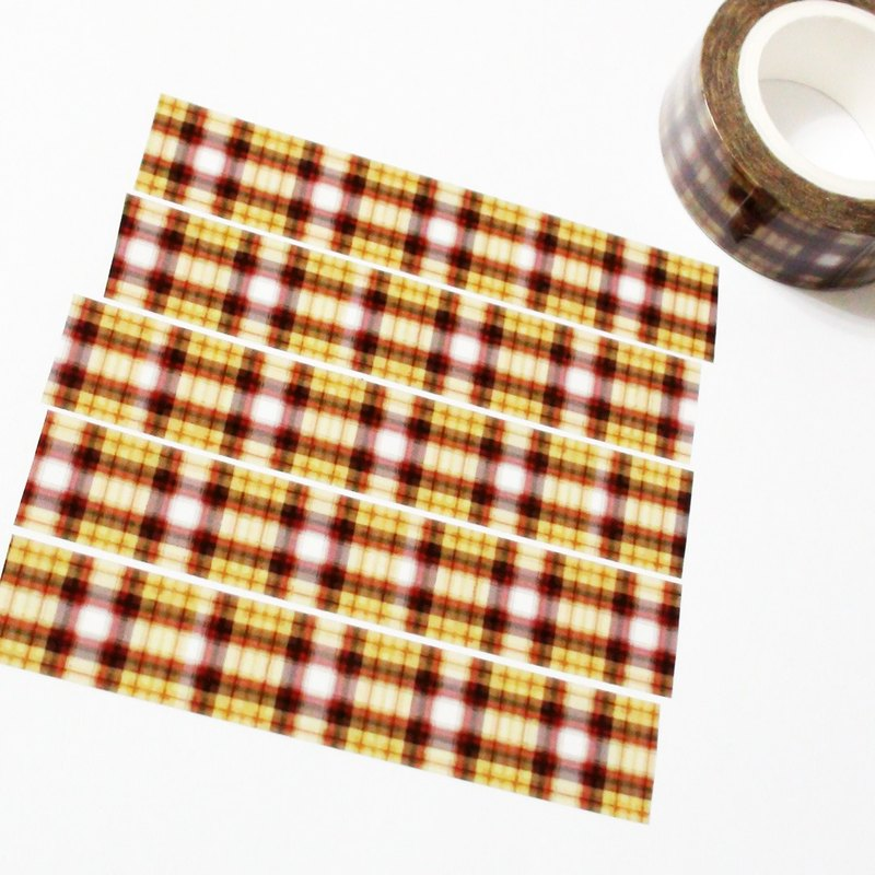 Sample Washi Tape Autumn Plaid Fabric