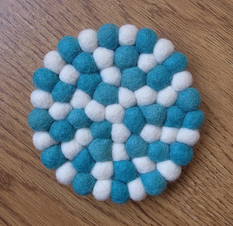 Cup coasters, Felt coasters Round