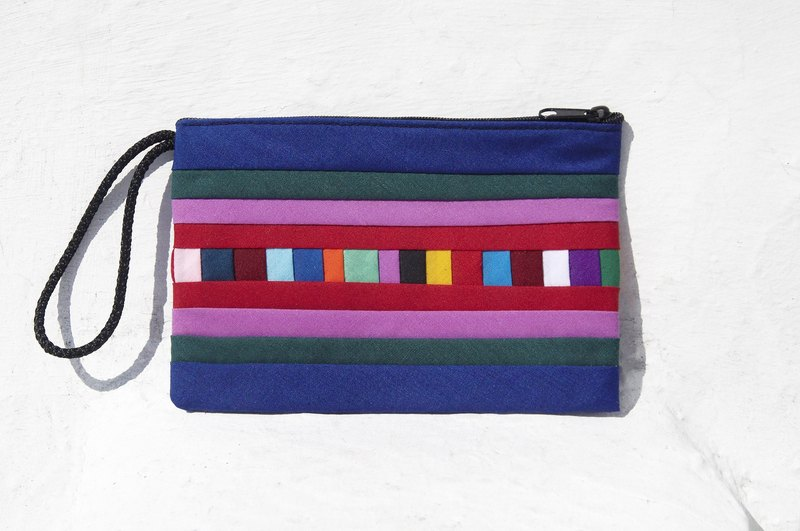 Christmas gift ideas gift exchange gift design feel handmade cotton purse / storage bag / bag / debris bag / headphone pouch - rainbow colored patchwork