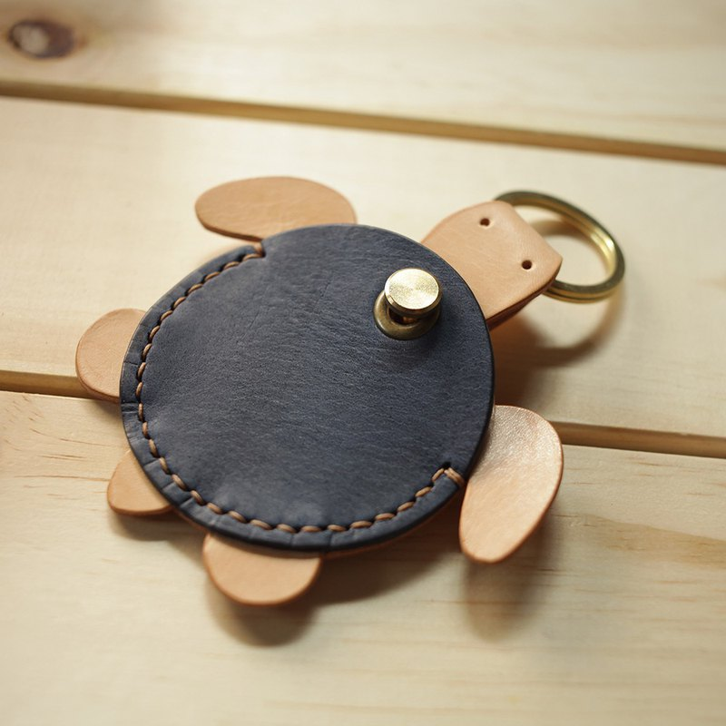 Handmade dark blue turtle gogoro leather case