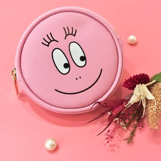 [BARBAPAPA bubble] texture leather smiley round coin purse - genuine authorized card answer international