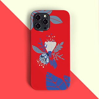 Spring flower - red Phone case