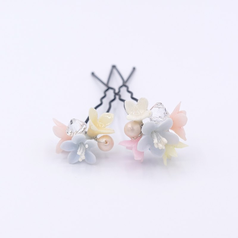 Floral Resin Clay Hair Pin