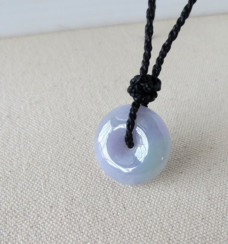The birth year [safety ‧ wish] ice spring color jade silk wax line necklace*BS02*[four shares]