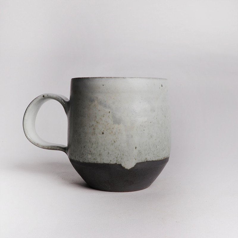 Ming bud kiln l simple texture gray glaze mug
