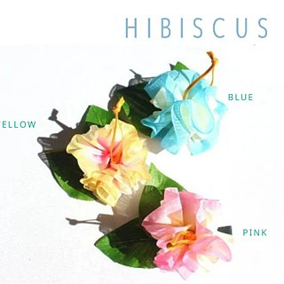 3ways hibiscus accessory,Ponytail Holder(byp3),hair bow,hair accessory,ukulele
