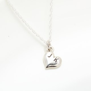 Custom sweetheart heart stamping letter digit s925 sterling silver necklace
