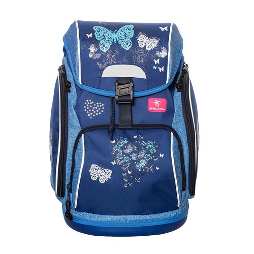 European children's backpack / comfort series - blue butterfly dancing