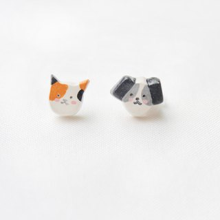 Handmade cat & dog  earrings