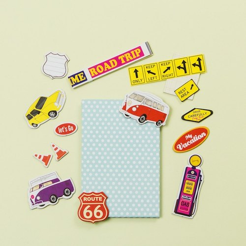 DIY by Keng crusty decorative album / yearbook series -road trip