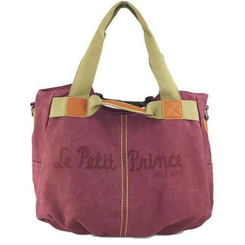 The Little Prince Classic authorization - multifunction handbag (red)