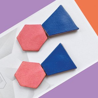 Sonniewing Geometric Stud Leather Earrings