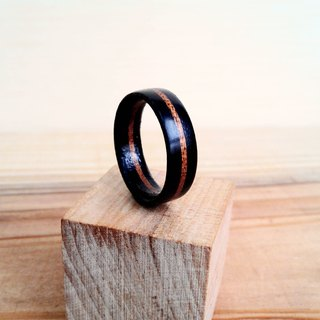 ***will be off the shelf*** handmade purple ebony - walnut - purple ebony precious wood simple wooden ring with handmade wooden box custom made