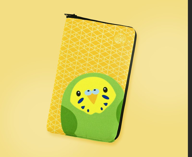 Lightweight shockproof ∣ Yellow Green Tiger Parrot ‧ Mobile storage bag