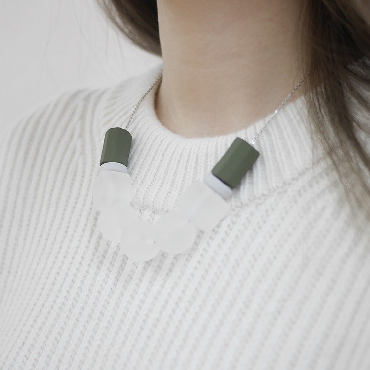 Marshmallow Necklace - SNOWING OLIVE