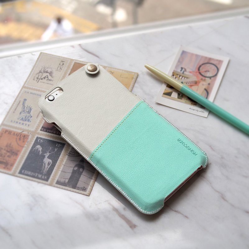 POSH | SOFT LEATHER POUCH FOR IPHONE 6/6S Plus - Green