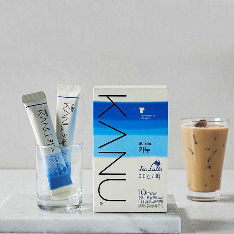 KANU Ice Latte漸層冰拿鐵咖啡 135g(13.5g×10入/盒)