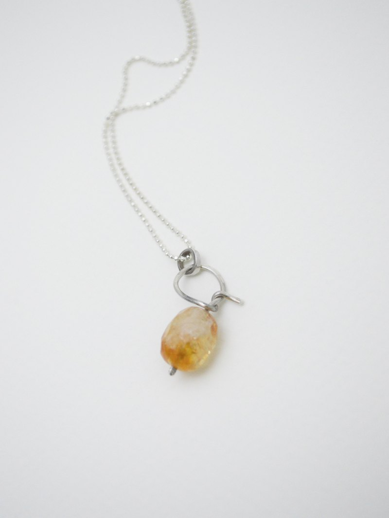 ogontoh candy‧Citrine‧Silver Necklace