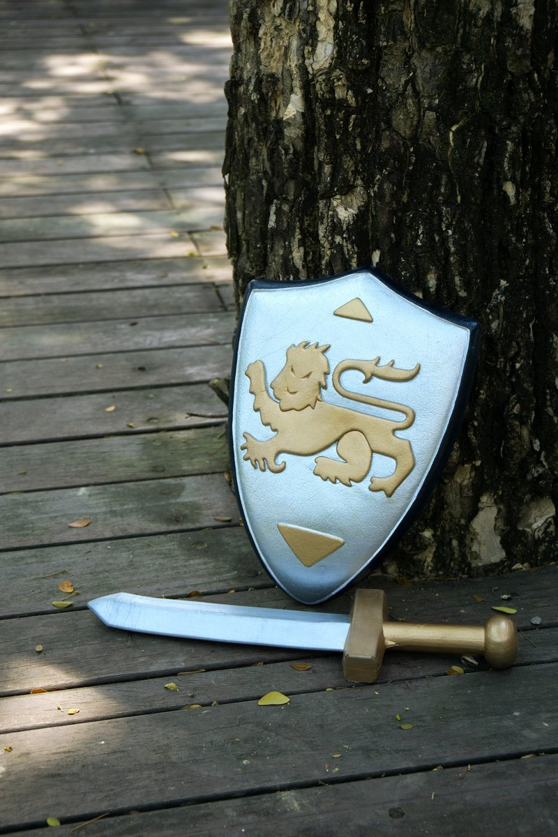 American Rubbabu Pure Natural Latex Sword Shield Set Medieval Knight Medieval Knight