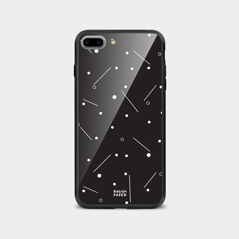 Dotted line | tempered glass case | mobile phone case