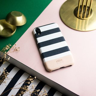 Alto iPhone XR Denim Leather Case – Zebra