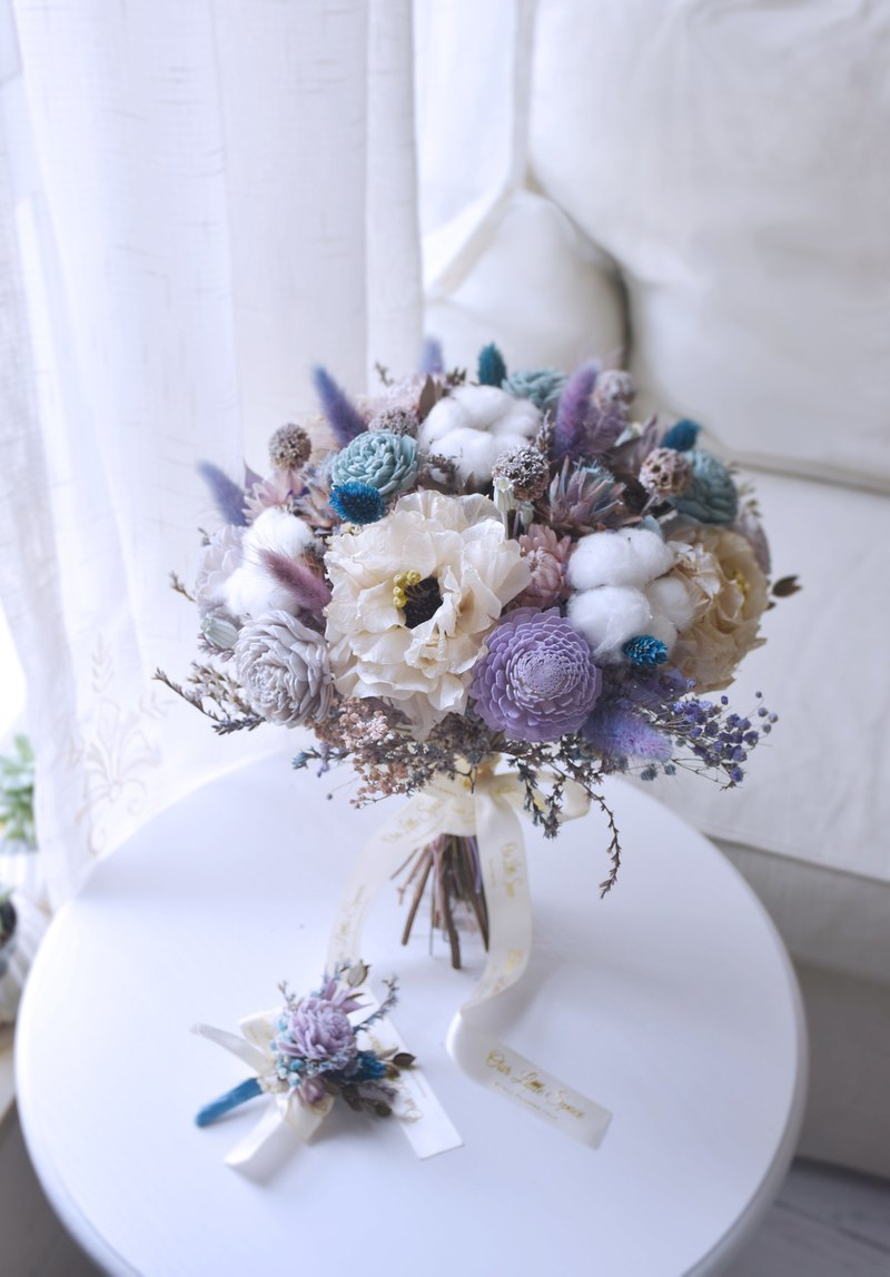 [Our.Little_Space] Dry flower wedding bouquet / wedding / dry flower / bride / custom