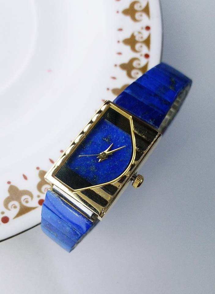 【Lost And Find】Elegant Natural Lazurite watch