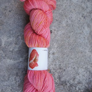 Hand-dyed lines. coral. (100% Merino)