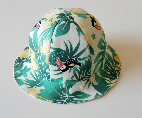 Nanyang style small ball baby hat double sided baby sun visor visor Mi Yue gift baby hat baby hat soft hat fisherman hat