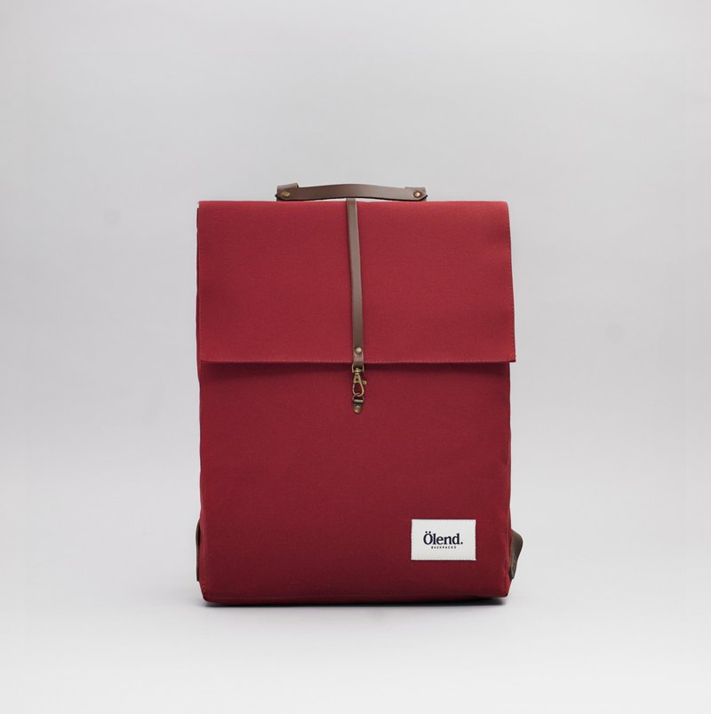 Ölend Holden Fabric| Leather |Laptop bag | 100% handmade in Spain (Navy)