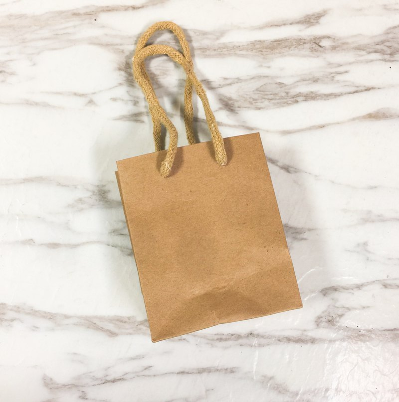 Mini kraft paper bag gift plus purchase area