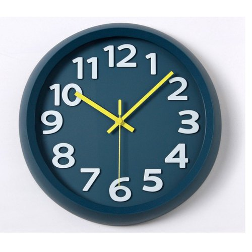 [019005-01] a.cerco Fami wall clock - simple series (four colors optional) - dark blue