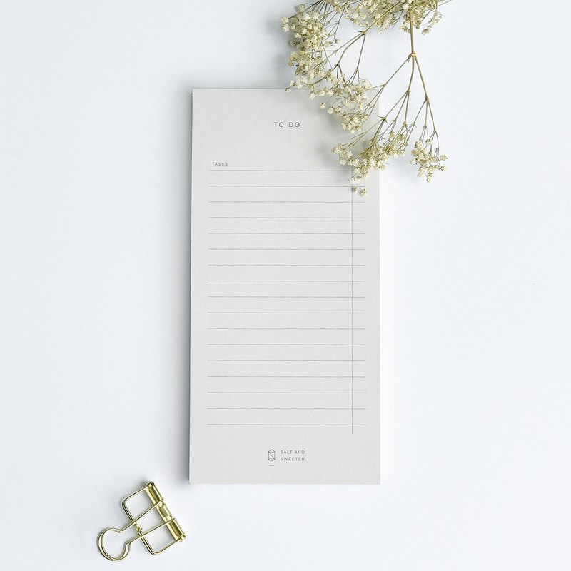 Minimalist To-do Taskpad (Grey)