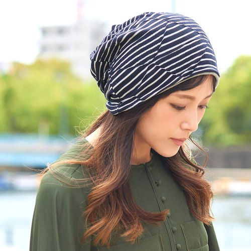 100% Organic Cotton Headband Beanie Neckwarmer Made in Japan Summer Beanie Hat
