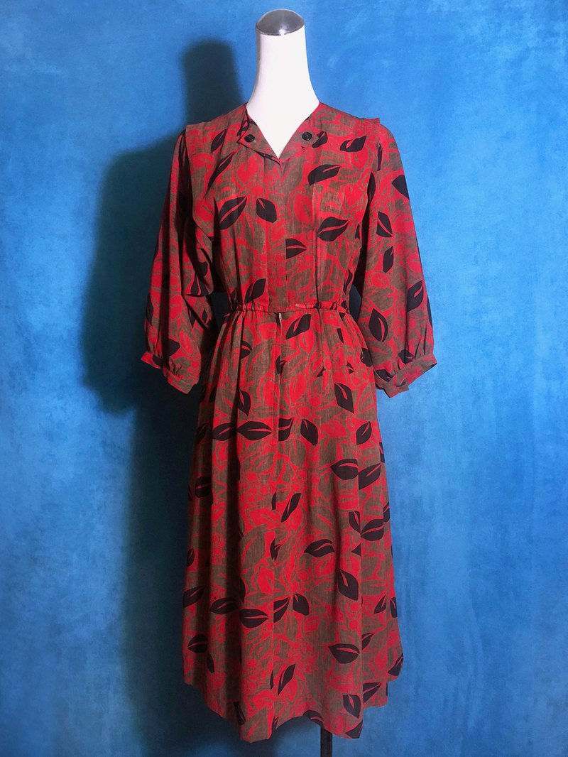 Flower vintage dress / VINTAGE brought abroad
